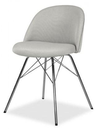 Jídelní židle ALLY 9368-207+PORGY 9346-091 (sv.šedá,chrom)
