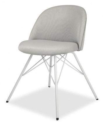 Jídelní židle ALLY 9368-207+PORGY 9346-801 (sv.šedá,bílá)