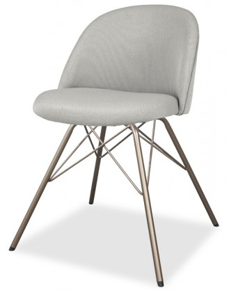 Jídelní židle ALLY 9368-207+PORGY 9346-888 (sv.šedá,bronz)