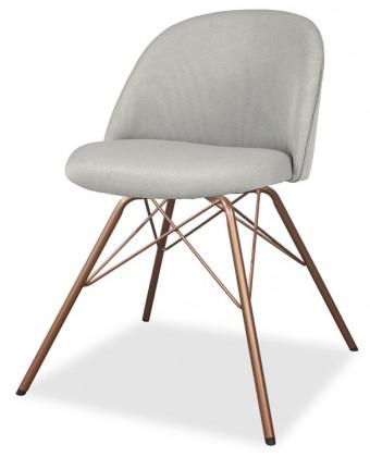 Jídelní židle ALLY 9368-207+PORGY 9346-889 (sv.šedá,měď)