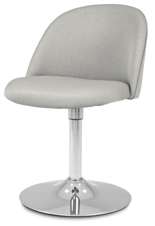 Jídelní židle ALLY 9368-207+TRUMPET 9341-091 (sv.šedá,chrom)
