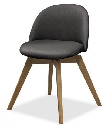 Jídelní židle ALLY 9368-215+BESS 9347-054 (antracit,dub)