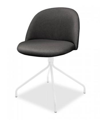 Jídelní židle ALLY 9368-215+EGO 9319-801 (antracit,bílá)