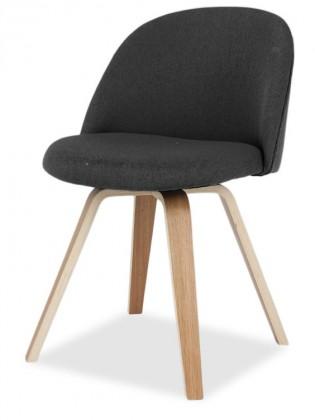 Jídelní židle ALLY 9368-215+ELLA 9348-054 (antracit,dub)