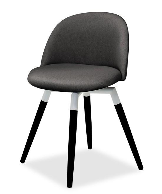 Jídelní židle ALLY 9368-215+FIDO 9315-424 (antracit,bílá,černá)