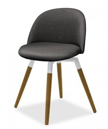 Jídelní židle ALLY 9368-215+FIDO 9315-454 (antracit,bílá,dub)