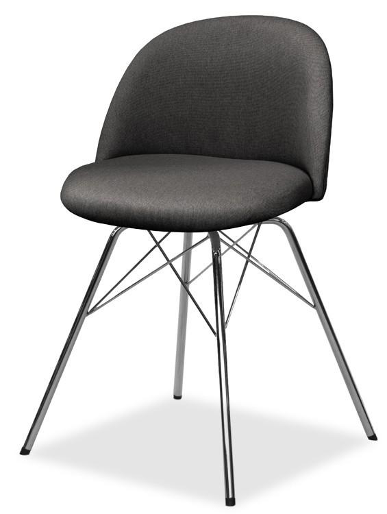 Jídelní židle ALLY 9368-215+PORGY 9346-091 (antracit,chrom)