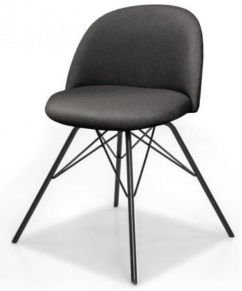 Jídelní židle ALLY 9368-215+PORGY 9346-824 (antracit,černá)