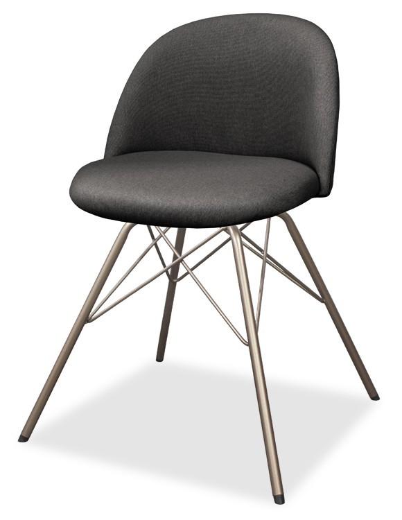 Jídelní židle ALLY 9368-215+PORGY 9346-888 (antracit,bronz)