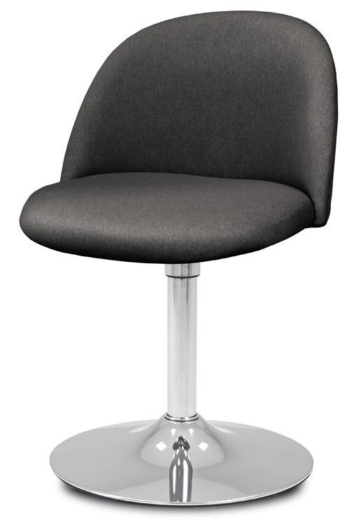 Jídelní židle ALLY 9368-215+TRUMPET 9341-091 (antracit,chrom)