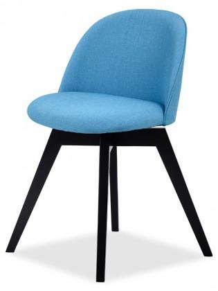 Jídelní židle ALLY 9368-220+BESS 9347-024 (tyrkys,černá)