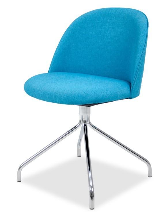 Jídelní židle ALLY 9368-220+EGO 9319-091 (tyrkys,chrom)