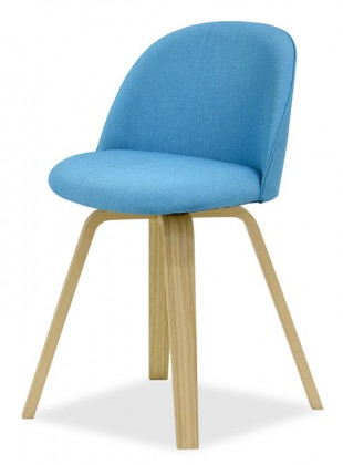 Jídelní židle ALLY 9368-220+ELLA 9348-054 (tyrkys,dub)