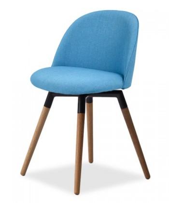 Jídelní židle ALLY 9368-220+FIDO 9315-154 (tyrkys,černá,dub)