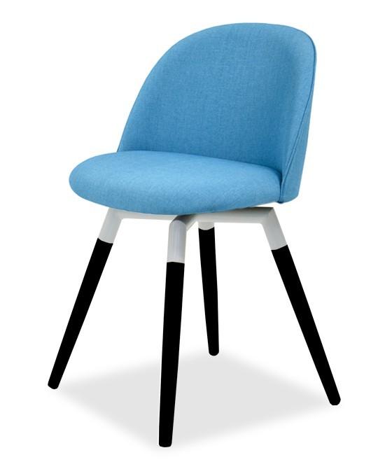 Jídelní židle ALLY 9368-220+FIDO 9315-424 (tyrkys,bílá,černá)