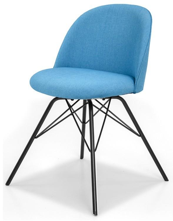 Jídelní židle ALLY 9368-220+PORGY 9346-824 (tyrkys,černá)