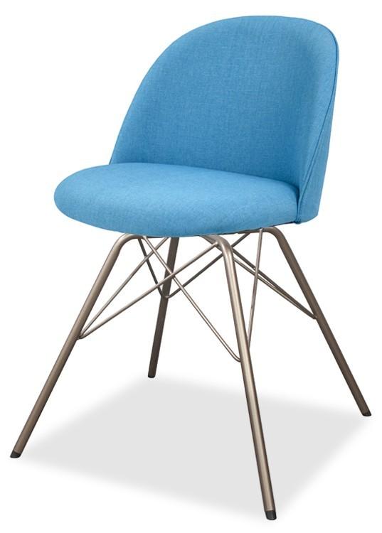 Jídelní židle ALLY 9368-220+PORGY 9346-888 (tyrkys,bronz)