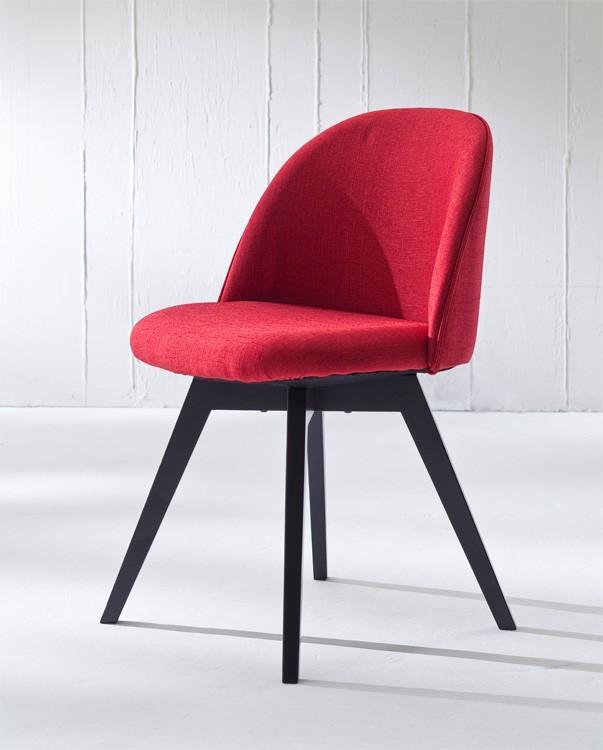 Jídelní židle ALLY 9368-228+BESS 9347-024 (červená,černá)
