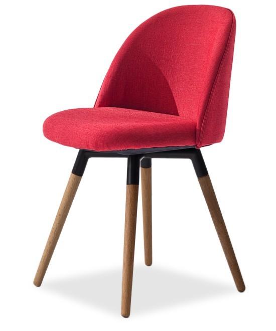 Jídelní židle ALLY 9368-228+FIDO 9315-154 (červená,černá,dub)