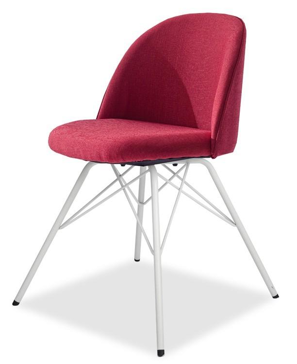 Jídelní židle ALLY 9368-228+PORGY 9346-801 (červená,bílá)