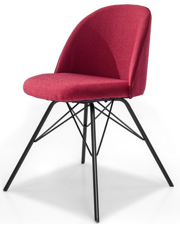 Jídelní židle ALLY 9368-228+PORGY 9346-824 (červená,černá)