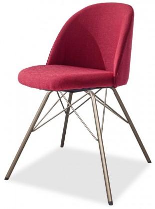 Jídelní židle ALLY 9368-228+PORGY 9346-888 (červená,bronz)