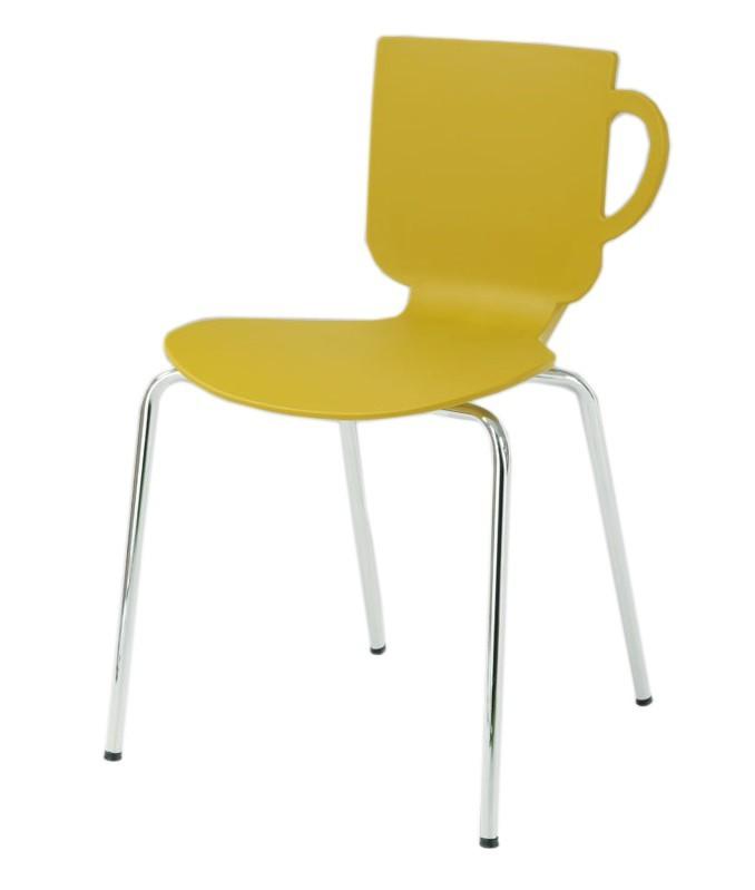 Jídelní židle Amy(kari, plast/chrom)