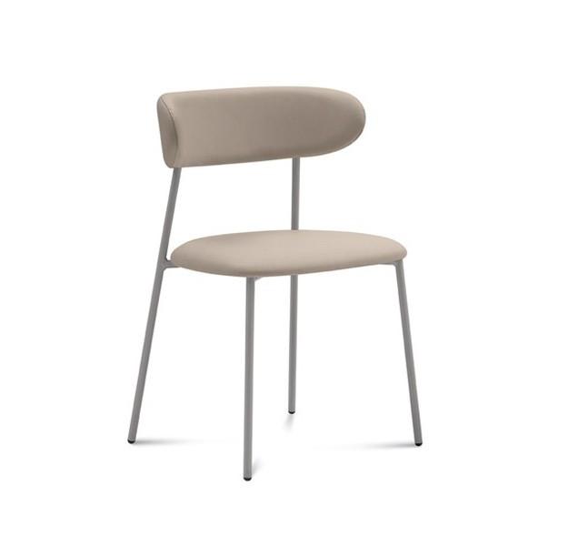 Jídelní židle Anais - Jídelní židle (lak pískový matný, eko kůže béžová)
