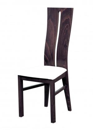 Jídelní židle Andre I - jídelní židle (dřevo - tmavý ořech/potah - syntetická kůže)