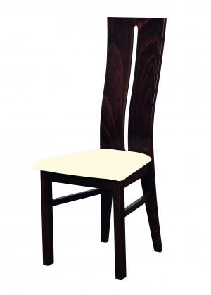 Jídelní židle Andre I - jídelní židle (dřevo - wenge/potah - látka)