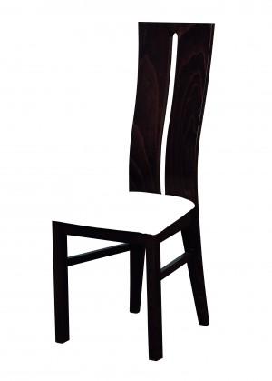 Jídelní židle Andre I - jídelní židle (dřevo - wenge/potah - syntetická kůže)