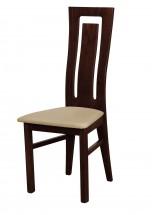 Jídelní židle Andre II (dřevo - wenge/potah - syntetická kůže)