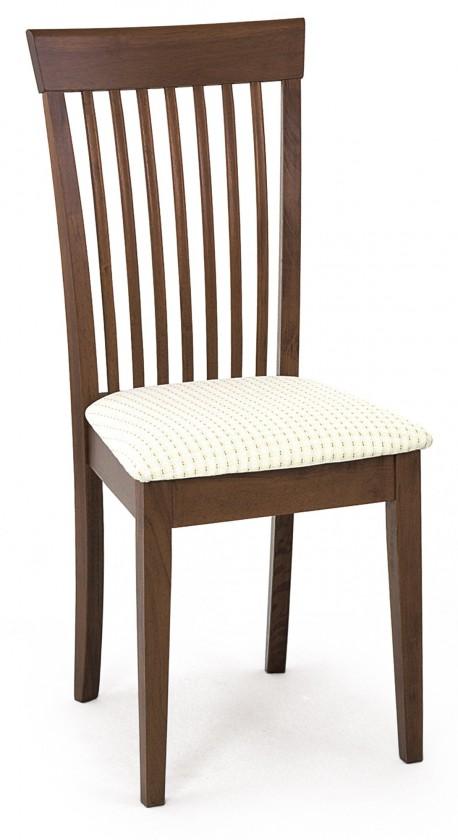 Jídelní židle AREGO(kaučukovník, moření ořech,potah krémový)