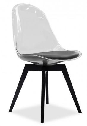 Jídelní židle Bonni 9302-800+BESS 9317-024 (transparentní,černá)