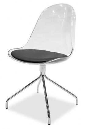 Jídelní židle Bonni 9302-800+EGO 9319-091 (transparentní,chrom)