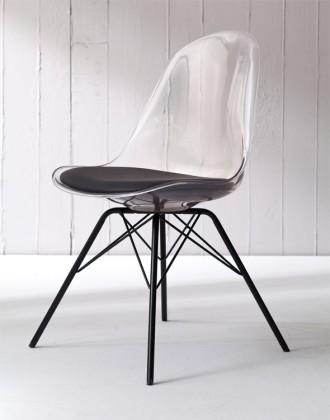 Jídelní židle Bonni 9302-800+PORGY 9316-824 (transparentní,černá)