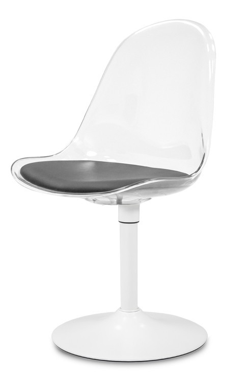 Jídelní židle Bonni 9302-800+TRUMPET 9341-801 (transparentní,bílá)