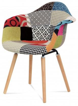 Jídelní židle Color - Jídelní židle s područkami CT-723 (patchwork/masiv buk)