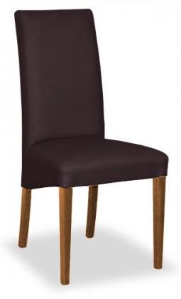 Jídelní židle Corina (ořech/eko kůže elektra, hnědá)