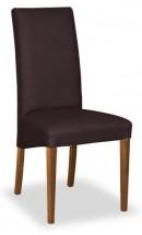Jídelní židle Corina (ořech/eko kůže elektra, hnědá) - II. jakost