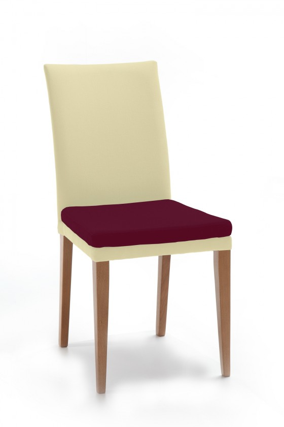 Jídelní židle Crista (dub/látka carabu světle béžová/sedák fialová)