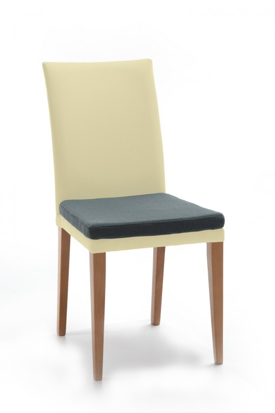 Jídelní židle Crista (dub/látka carabu světle béžová/sedák šedá)