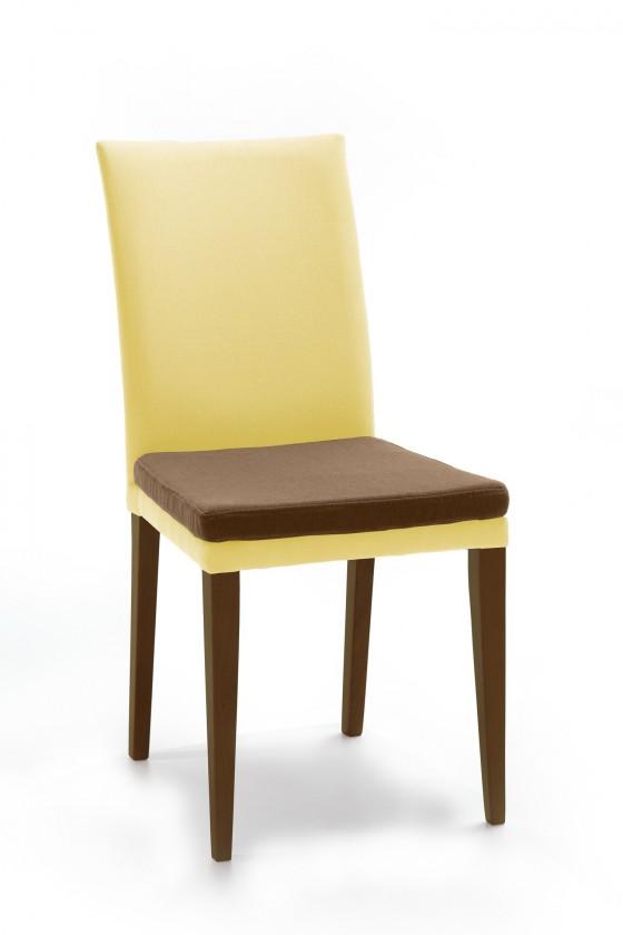 Jídelní židle Crista (jasan/látka antara béžová/sedák hnědá)