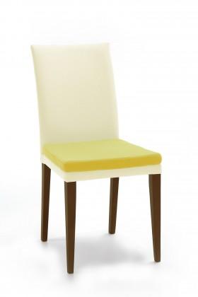 Jídelní židle Crista (jasan/látka antara krémová/sedák béžová)