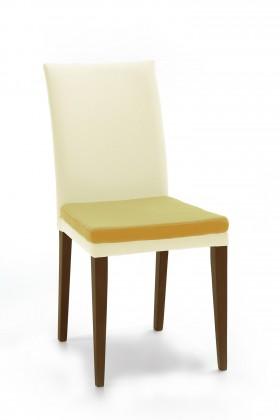 Jídelní židle Crista (jasan/látka antara krémová/sedák světle hnědá)