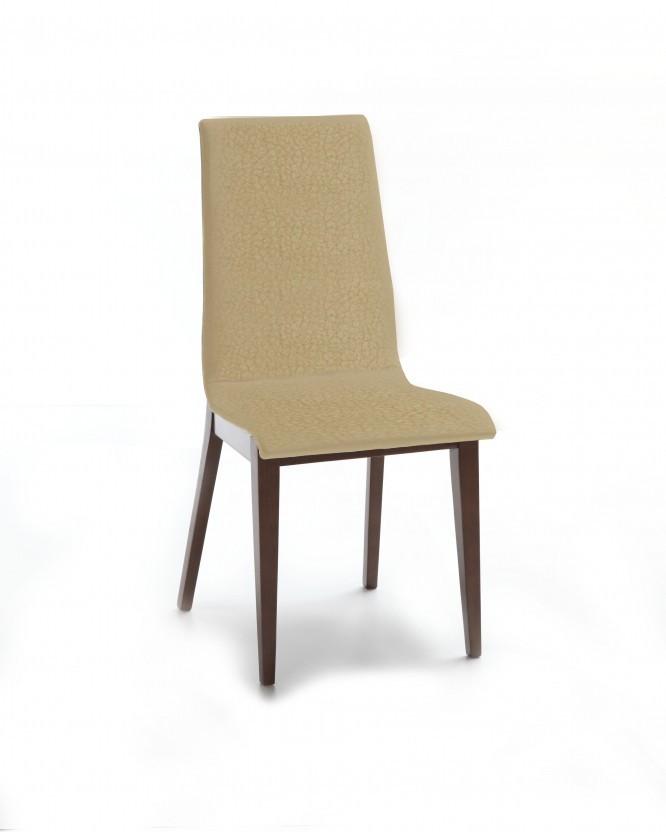 Jídelní židle Cruz (čokoládový jasan / látka carabu béžová)