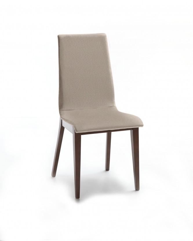 Jídelní židle Cruz (čokoládový jasan / látka carabu šedobéžová)