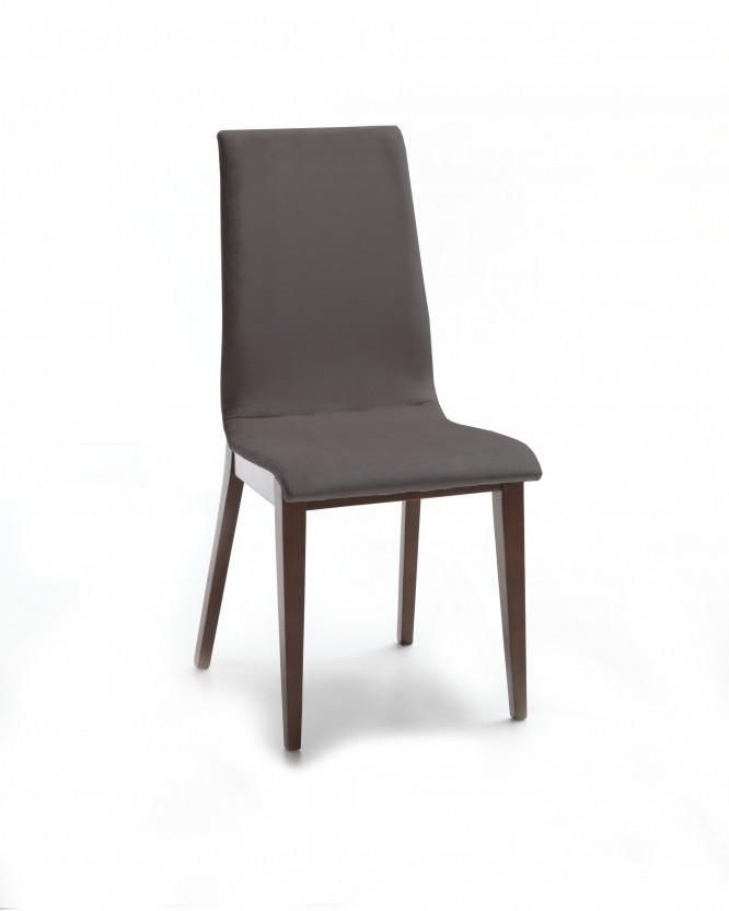Jídelní židle Cruz (čokoládový jasan / látka navara tmavě šedá)