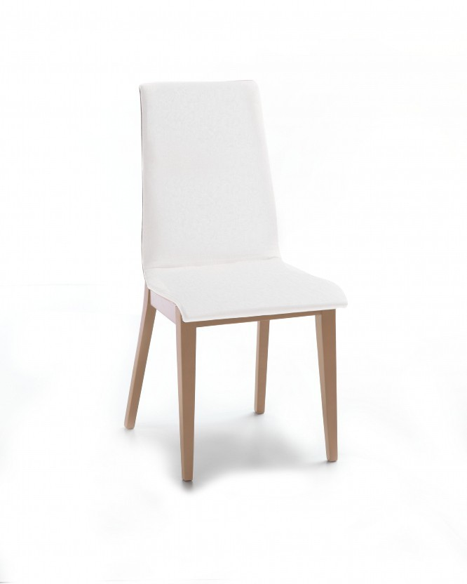 Jídelní židle Cruz (dub / látka carabu bílá)