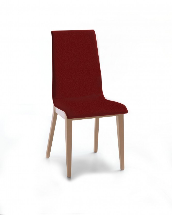 Jídelní židle Cruz (dub / látka carabu karmínová)